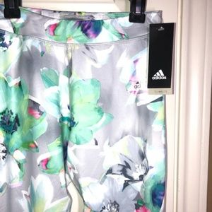 Adidas Printed Capri Leggings Girls12-14.NWT!